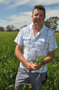 1 Ben Hunt from Nalang Pastoral in his Durum crop