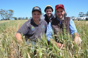 1 Jason Able, Nathan Tink and Lachie Eats at Jolpac rural suppies site Bordertown