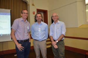 Agronomist Craig Davis caught up with durum breeder Jason Able and research scientist Mike Sissons.